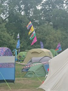 Camp flags on Essex Chase