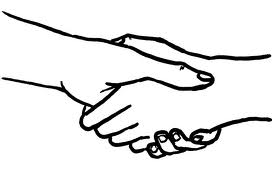 Why do Scouts shake hands with their left hand?