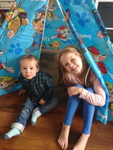 Children's Paw Patrol Bedroom and Playroom Teepee Tent Set
