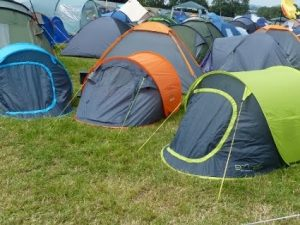 Tents pitched closley