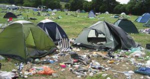 Glastonbury camping mess