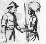 Left handed handshake