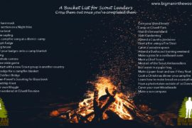 Bucket List for Scout Leader